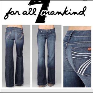 7 For All Mankind Dojo Dark Wash Jeans Size 24 EUC